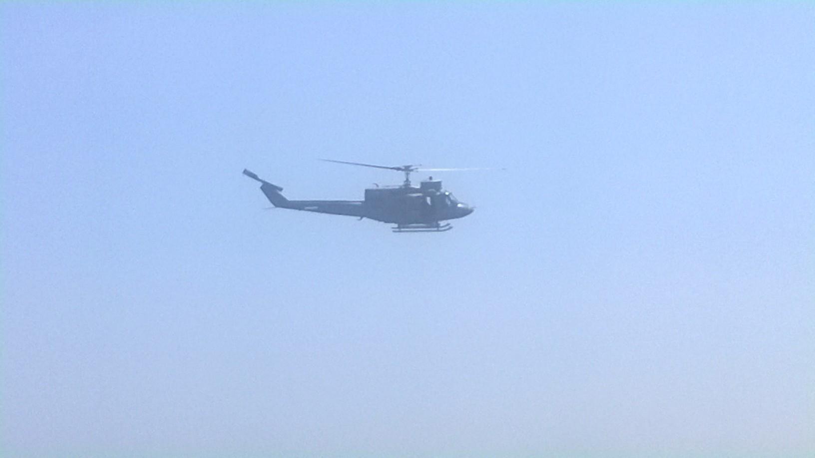 Un Elicottero : Un elicottero della marina militare è intervenuto per un incendio
