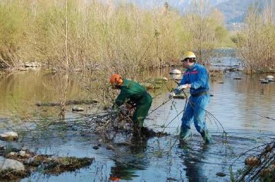 pulizia argini e alvei fluviali