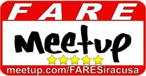 Logo Meetup FARE rettangolare a colori