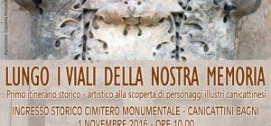 """Canicattini, il primo novembre si terrà l'iniziativa """"Lungo i viali della nostra memoria"""""""