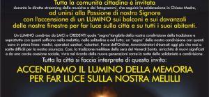 Melilli, flash mob in diretta streaming la sera del Venerdì santo